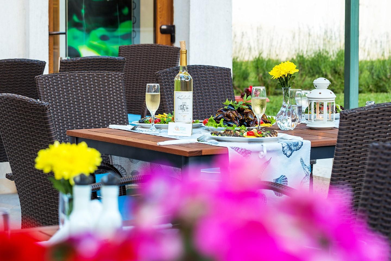 Градината на ресторанта